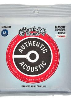 Martin Martin Authentic Treated Acoustic Lifespan MA550T Medium 13-56 Phosphor Bronze