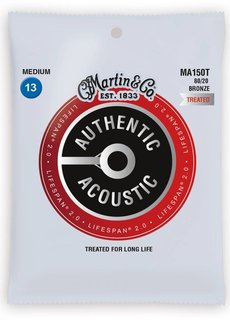 Martin Martin Authentic Treated Acoustic Lifespan MA150T Medium 13-56  Bronze