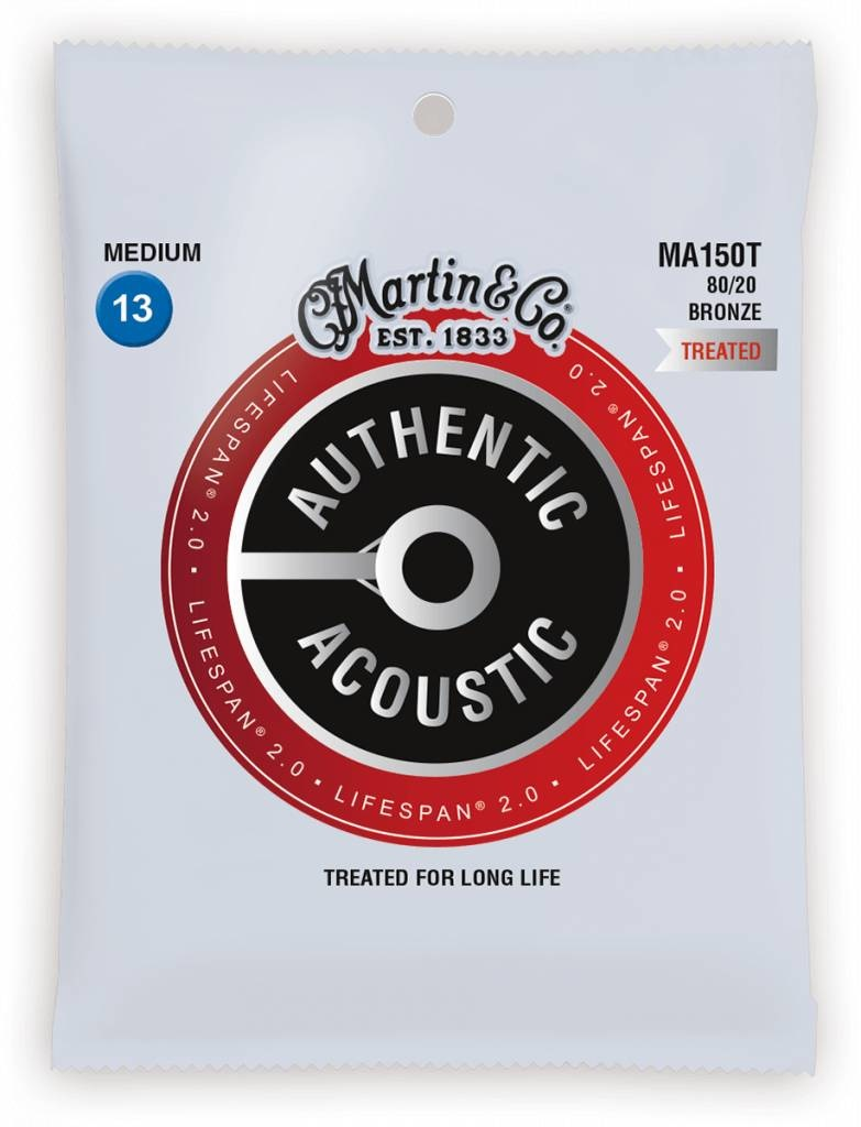 Martin Martin Authentic Treated Acoustic Lifespan MA150T Medium 13-56  Bronze