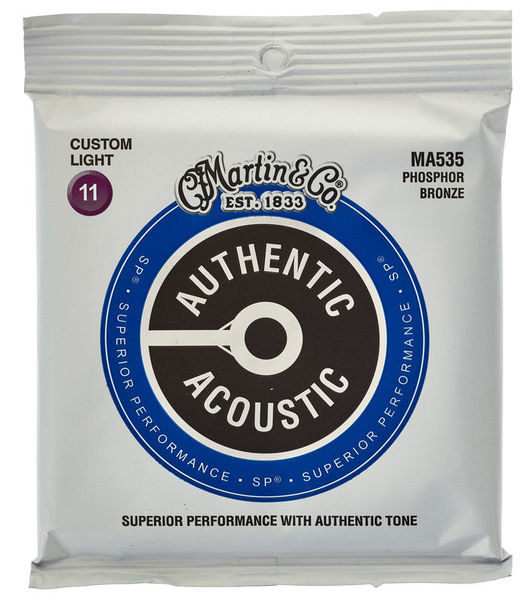 Martin Martin Authentic Acoustic SP MA535 Custom Light 11-52  PhosphorBronze