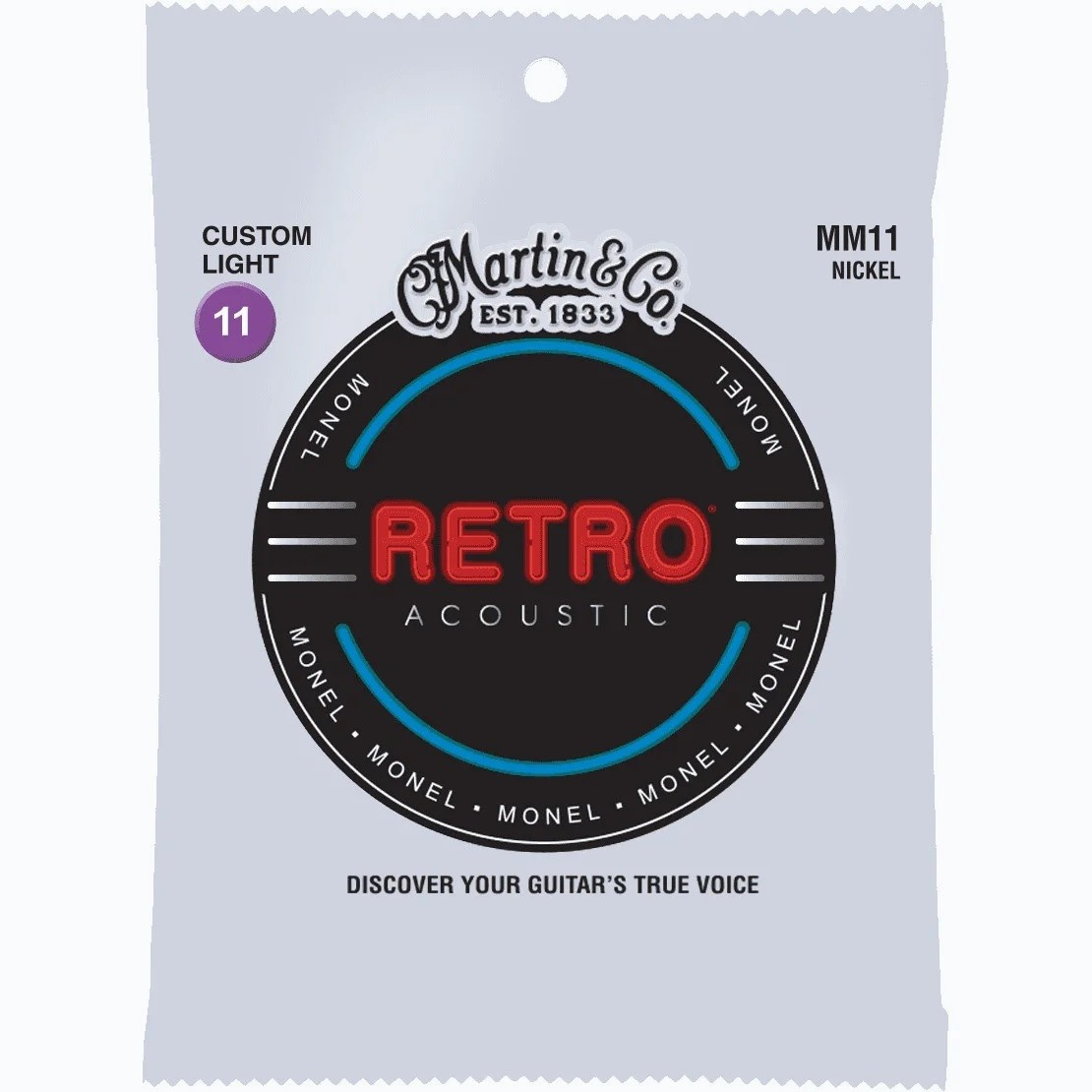 Martin Martin Retro  Acoustic MM11 Custom Light 11-52 Nickel Monel Wrap
