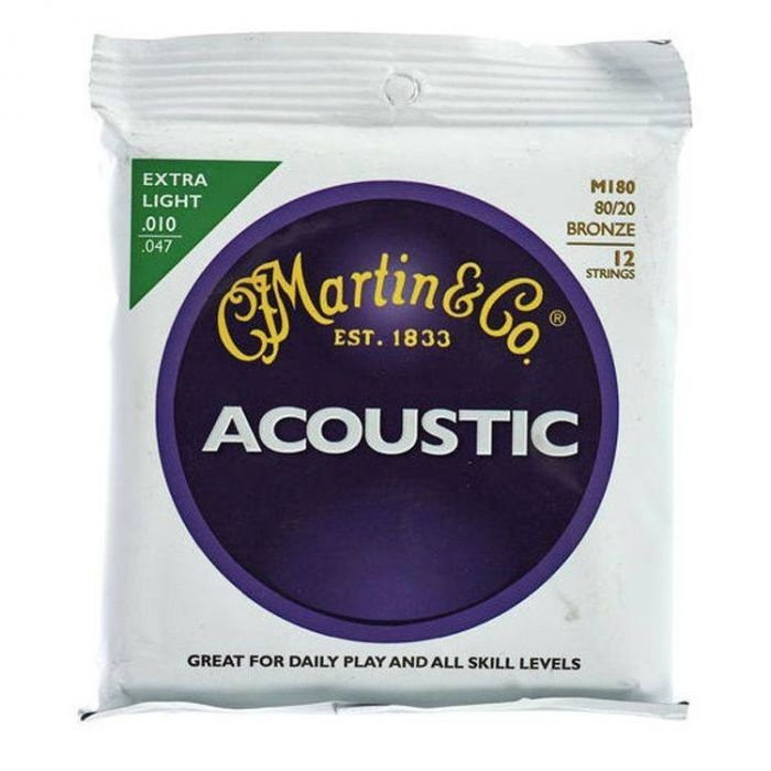 Martin Martin Acoustic SP M180 12-String Extra Light 10-47 80\20 Bronze
