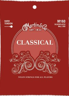 Martin Martin  Classical Strings M160 Hard Tension Silverplated Ball End