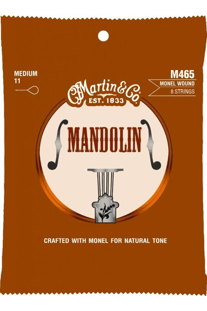 Martin Martin Mandolin M465 8-String Medium 11-40 Monel Wound