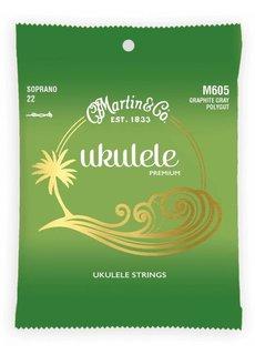 Martin Martin Ukelele Premium M605 Soprano 22 Graphite Gray Polygut