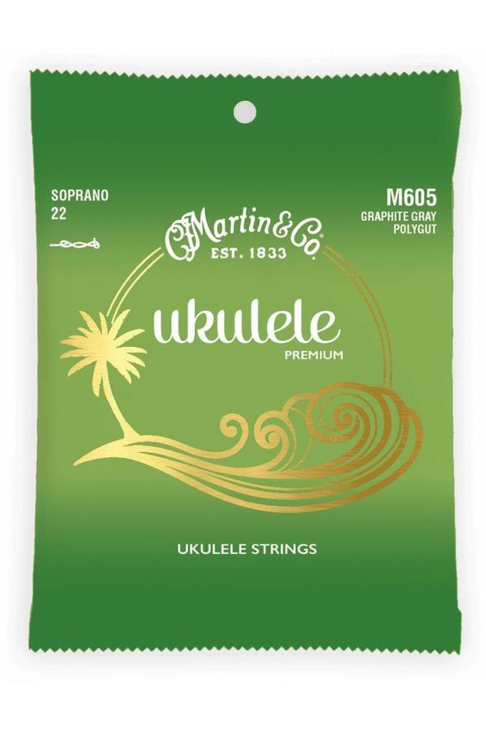 Martin Martin Ukulele Premium M605 Soprano 22 Graphite Gray Polygut