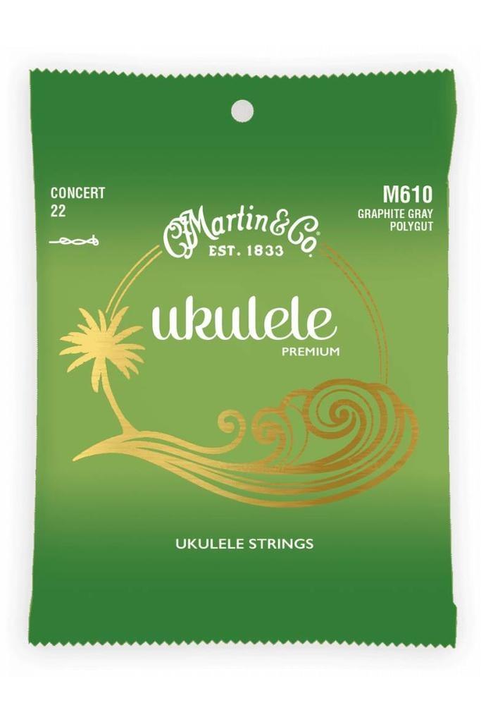 Martin Martin Ukulele Premium M610 Concert 22 Graphite Gray Polygut