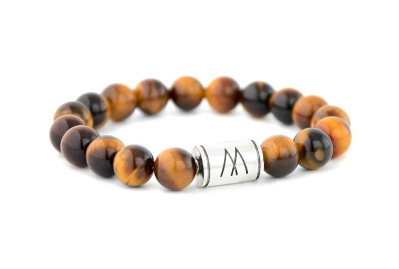 Brown Bracelet - Silver Brown Tiger Eye