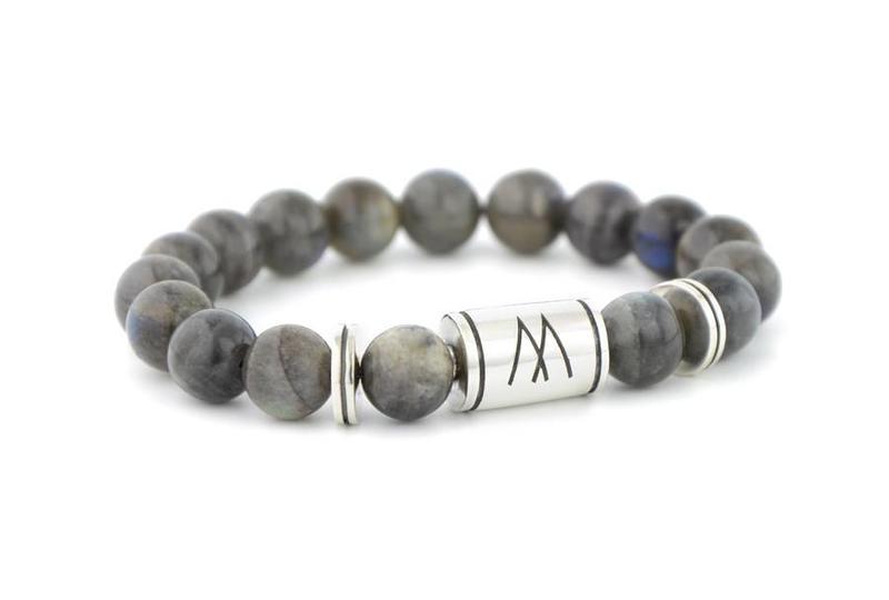 Grey Bracelet - Twin Silver Labradorite