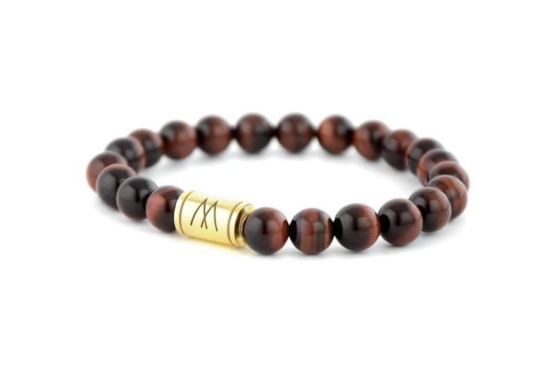 Red Bracelet - Gold Red Tiger Eye