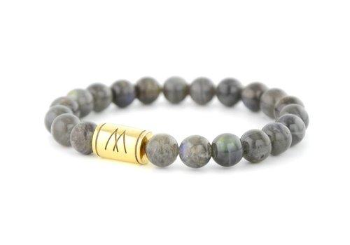 Prestige Grey Bracelet - Gold Labradorite