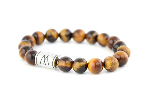 Prestige Brown Bracelet - Silver Brown Tiger Eye