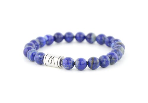 Minimal Blue Bracelet - Silver Lapis Lazuli