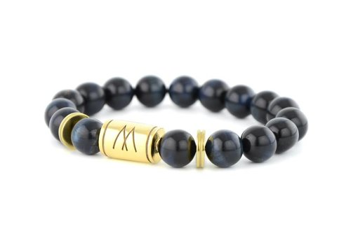 Prestige Blue Bracelet | Twin Gold Blue Tiger Eye