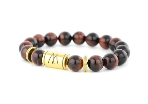 Prestige Red Bracelet - Twin Gold Red Tiger Eye