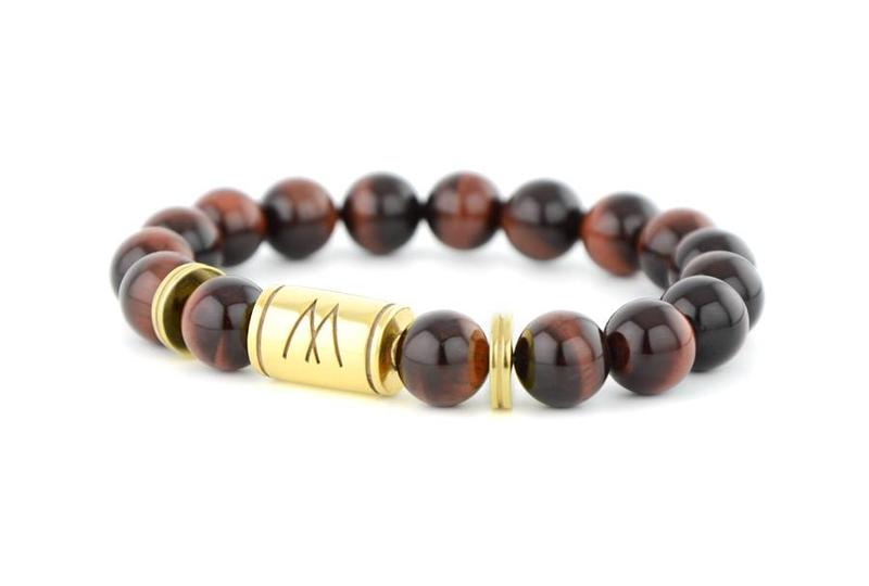 Red Bracelet - Twin Gold Red Tiger Eye