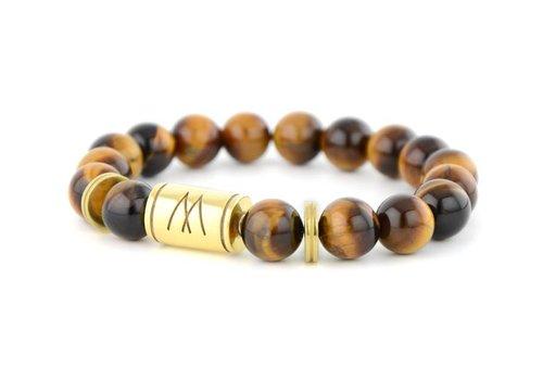 Prestige Brown Bracelet - Twin Gold Brown Tiger Eye
