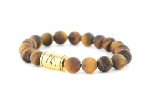 Prestige Brown Bracelet - Gold Brown Tiger Eye Matt