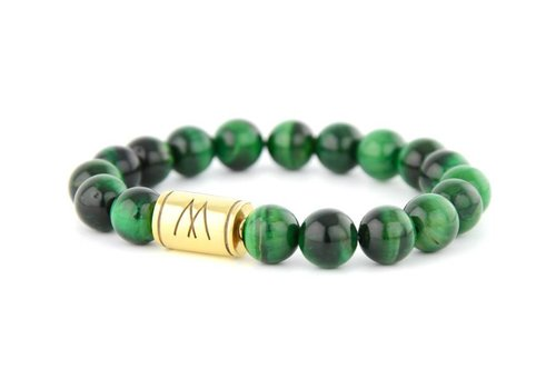 Prestige Green Bracelet - Gold Green Tiger Eye