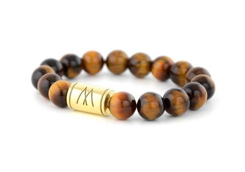 Prestige Brown Bracelet - Gold Brown Tiger Eye