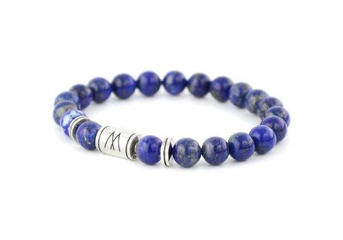 Minimal Blue Bracelet - Twin Silver Lapis Lazuli
