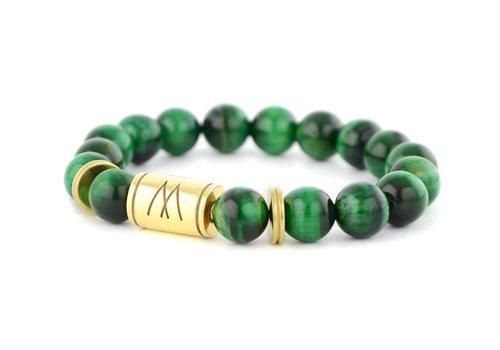 Prestige Green Bracelet - Twin Gold Green Tiger Eye