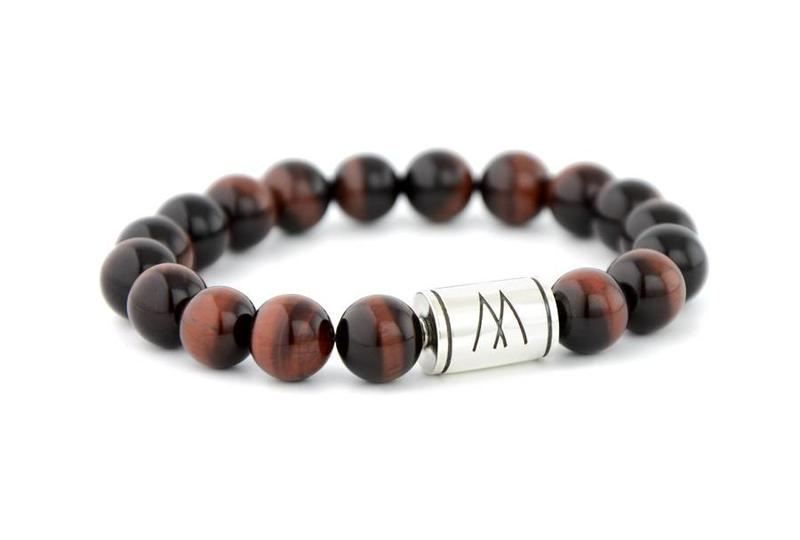 Red Bracelet - Silver Red Tiger Eye