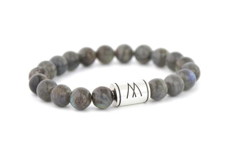 Grey Bracelet - Silver Labradorite