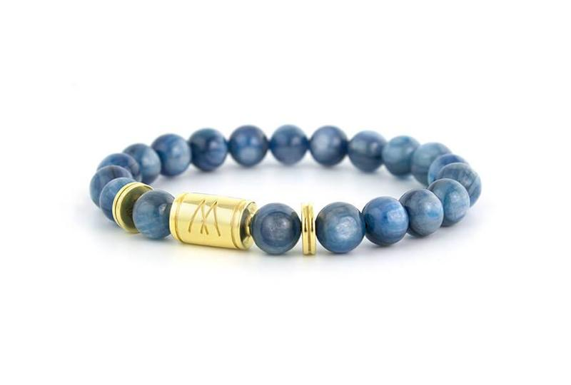 Blue Bracelet - Twin Gold Kyanite