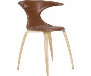 Dan form flair stoel cognac houten poten webmeubels