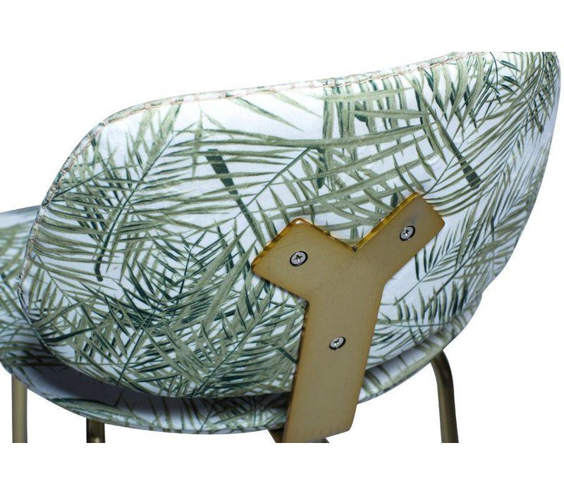 Prime Barkruk Fluweel Palm Patroon
