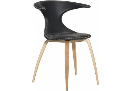 DAN-FORM Flair stoel zwart / eiken