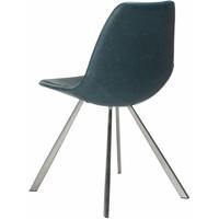 Pitch stoel blauw / RVS