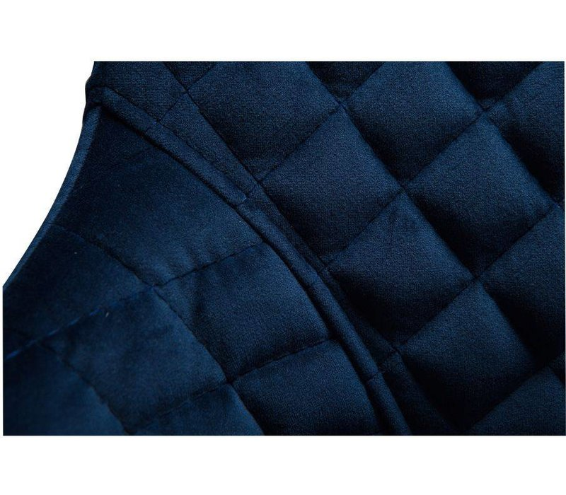 Vetro Stoel Blauw Fluweel