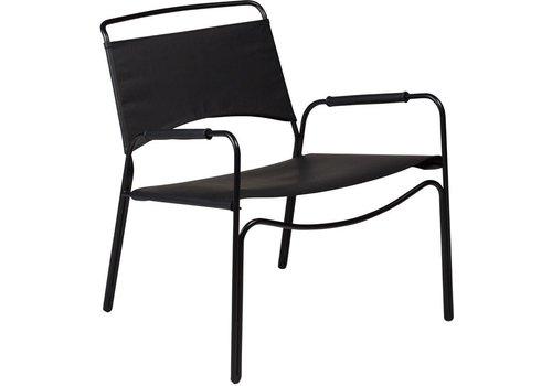 DAN-FORM Paz fauteuil zwart leer