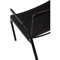 Paz fauteuil zwart leer