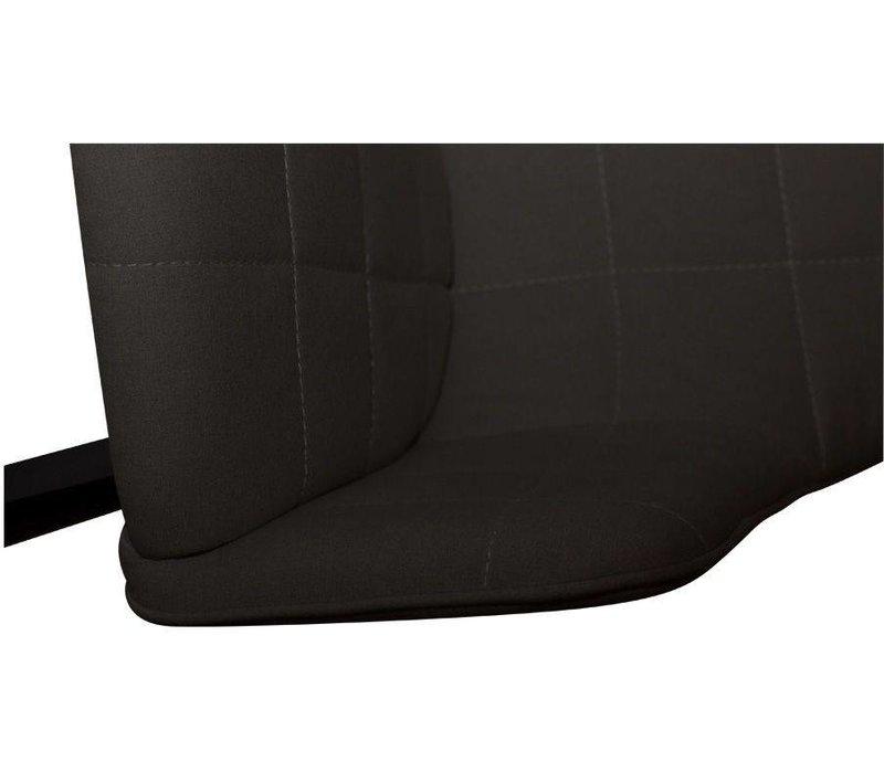 Embrace stoel zwart stof