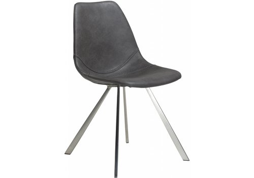 DAN-FORM Pitch stoel vintage grijs / RVS