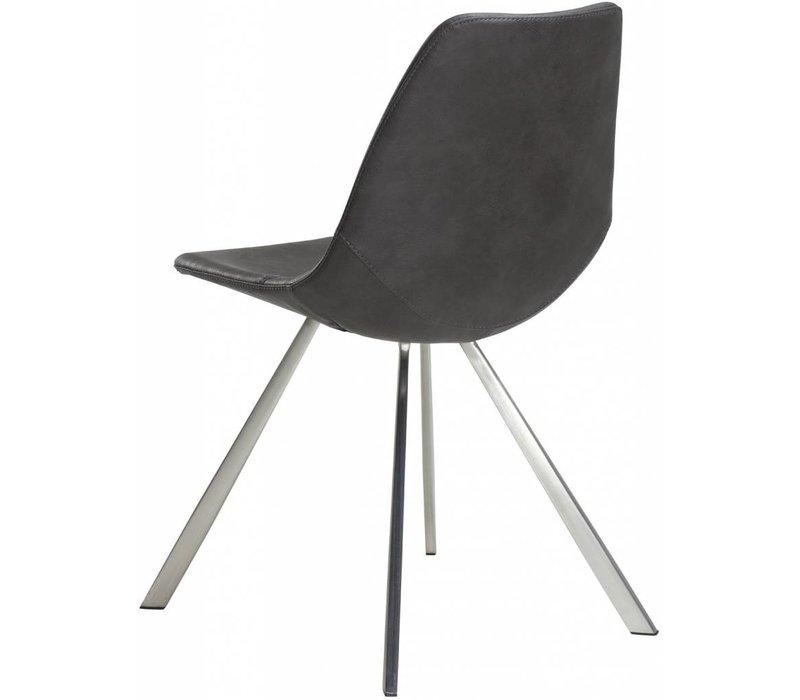 Pitch stoel vintage grijs / RVS