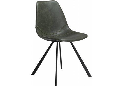 Pitch stoel vintage groen / zwart