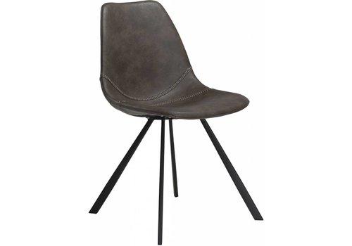 Pitch stoel vintage grijs / zwart