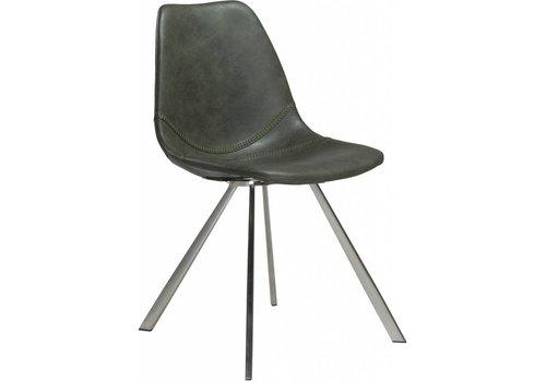 Pitch stoel vintage groen / RVS