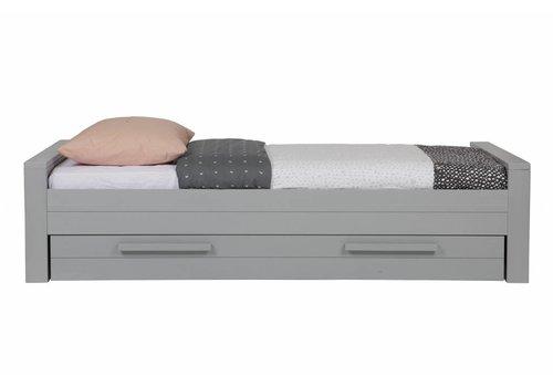 Dennis bed 90x200 cm grenen betongrijs geborsteld