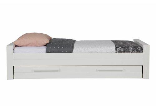 Woood Robin bed 90x200 cm grenen wit geborsteld