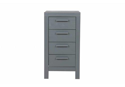 Woood Dennis 4-ladekast steel grey