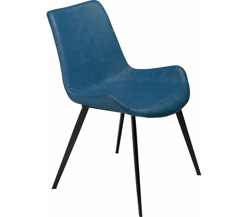 Hype stoel PU blauw