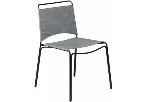 DAN-FORM Paz stoel grijs leer