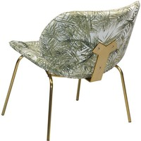 Prime fauteuil palm fluweel