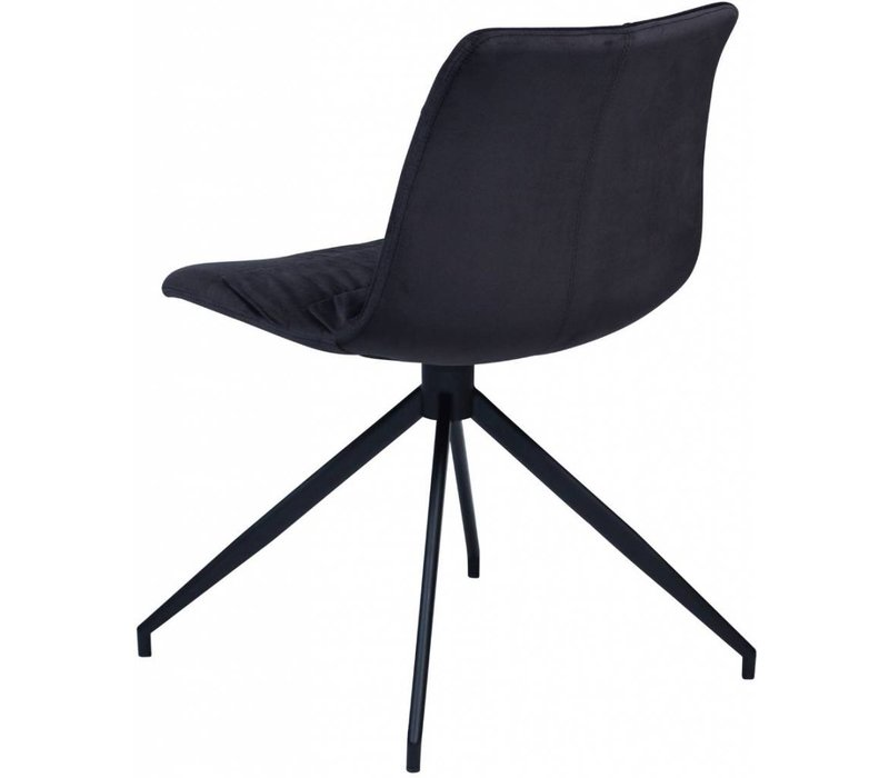 Dazz stoel zwart fluweel