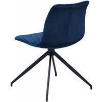 Dazz stoel blauw fluweel